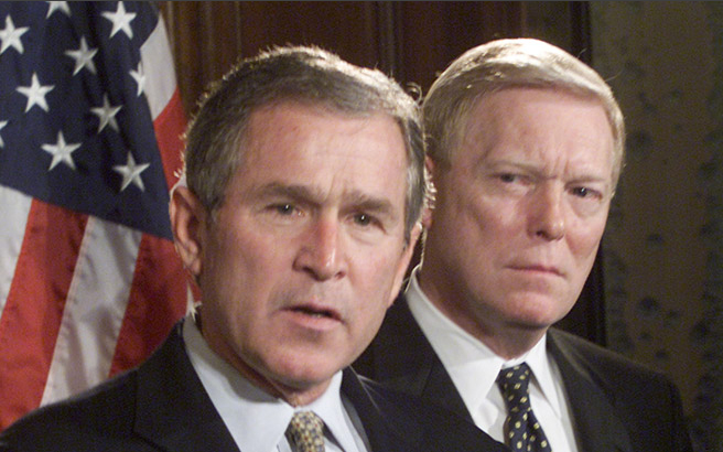 Dick Gephardt and George W. Bush
